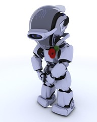 Robot with poppy in rememberance