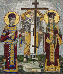Mosaic icon of Saint Konstantin and Saint Helena