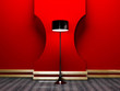 floor lamp in the red room