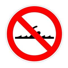 Forbidden swimming