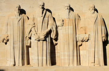 Reformation wall in Geneva, Switzerland.