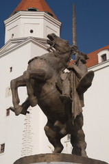 Bratislava castle, equestrian statue of King Svatopluk