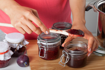 Fresh homemade jam