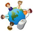 Businessmen around the globe