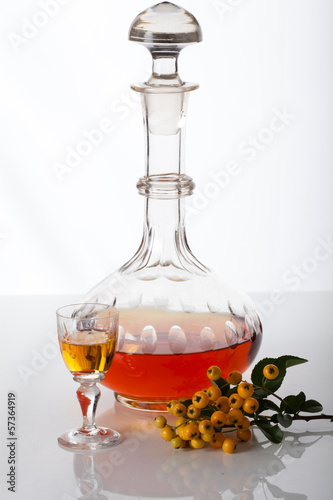Carafe with homemade liqueur