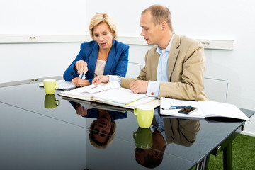 Environmentalists Discussing Over Documents In Office