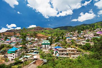 Landscape of Munnar town