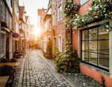 Fototapety Historic Schnoorviertel at sunset in Bremen, Germany