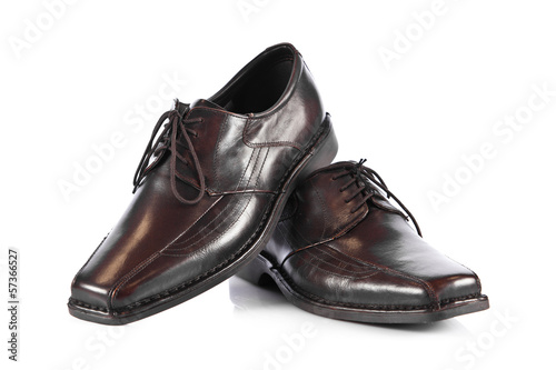 man's shoes isolated on white background.  Male fashion with sho