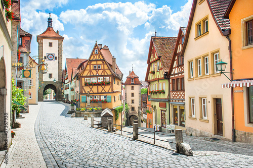 Medieval town of Rothenburg ob der Tauber, Bavaria, Germany