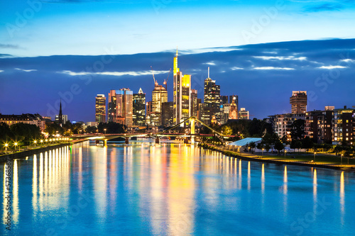 Frankfurt am Main at dusk, Germany