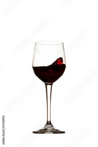 Bicchiere Vino Rosso Mosso Sfondo Bianco Isolato Cincin Buy