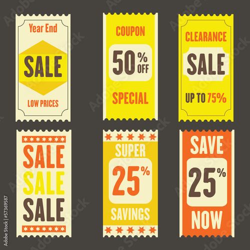 Retro Sale Tickets