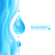 Water drops vector ecology background