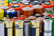 Leinwanddruck Bild - Batteries