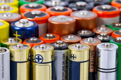 Leinwanddruck Bild Batteries