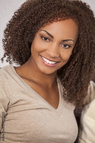 Beautiful Mixed Race African American Girl