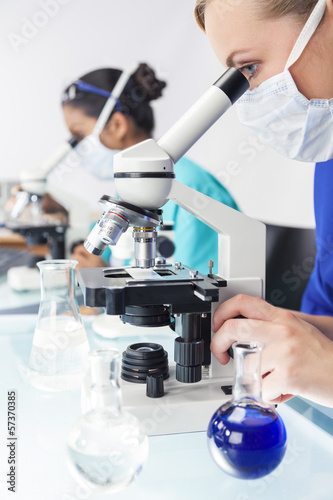 Female Doctor Scientist Researcher in a Laboratory