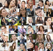 Business Men Women Communications Wireless Mobile Technology