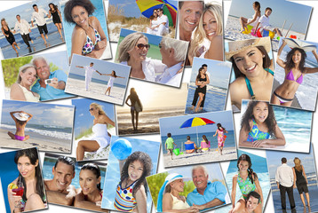 People Men Women Children Family Beach Vacation Holiday