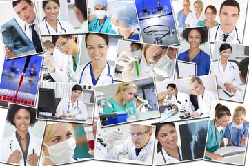 Medical Montage Doctors Nurses Research & Hospital