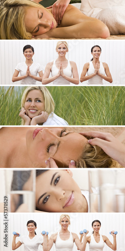 Montage Woman Healthy Spa Female Lifestyle
