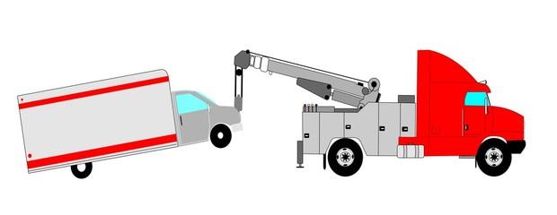 heavy duty tow truck towing van