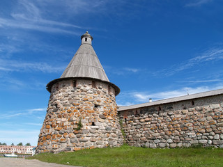 Spinning tower of Spaso-Preobrazhenskoye of the Solovki monaster
