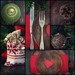 Christmas dinner collage