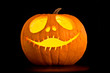 Jack o'lantern, black background