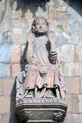 Escultura de Santa Maria del Mar. Barcelona.
