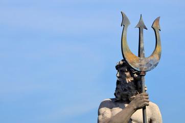 Escultura de Neptuno. Parque de la España Industrial. Barcelona