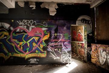 Ruine *** Graffiti - Herz