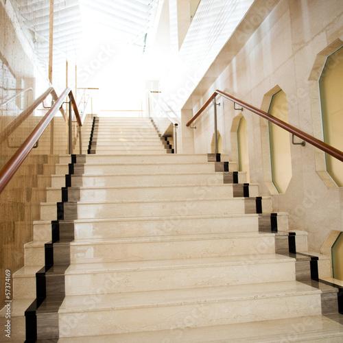 Leinwanddruck Bild marble stairs