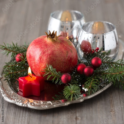 Christmas pomegranate