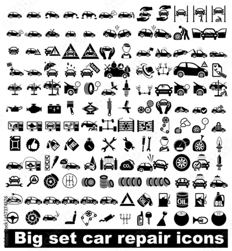 Big set car repair icons - 57374576