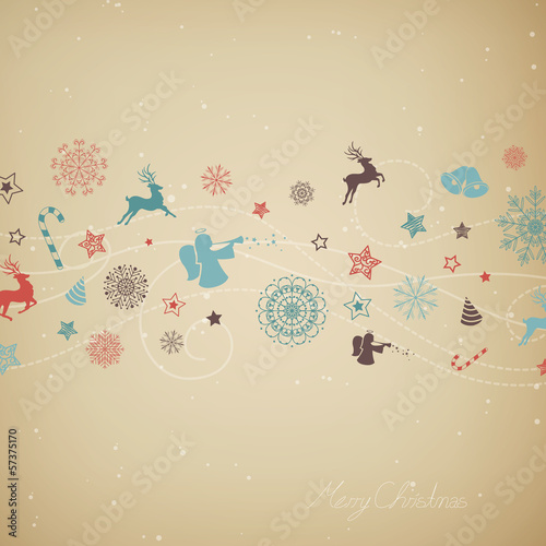 Vector Illustration of a Stylized Christmas Background