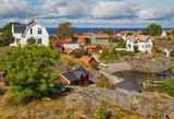 Stockholm archipelago village in summer.