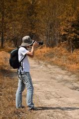 Photographer take a photo