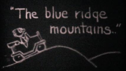 Driving Through The Blue Ridge Mountains-1940 Vintage 8mm film