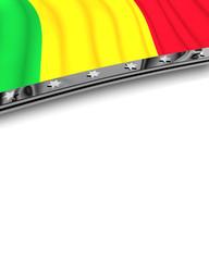 Designelement Flagge Mali