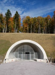 Bau eines Tunnels - Tunneleingang