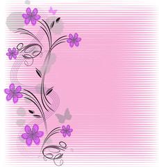 astratto con motivo floreale