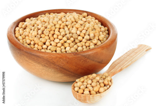 Soy beans isolated on white