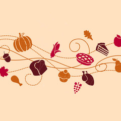 Vector Illustration of Stylized Thanksgiving Background