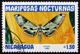 Postage stamp Nicaragua 1983 Pholus Licaon, Nocturnal Moth poster