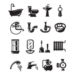 Plumbing icons. Vector format