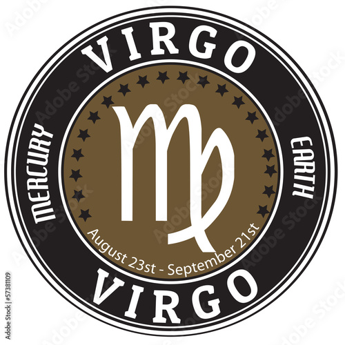 Virgo zodiac  label