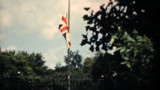 Old Union Jack Flag Flying Proudly-1940 Vintage 8mm film