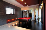 Contemporary interior with a snooker table